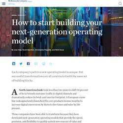 How to start building your next-generation operating model