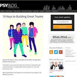 10 Keys to Building Great Teams