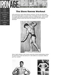 Steve Reeves Workout ! Building a Herculean Physique Naturally.