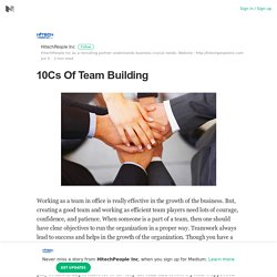 10Cs Of Team Building
