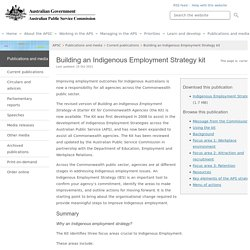 Building an Indigenous Employment Strategy kit - APSC