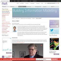 What is COBie? - Building Information Modelling (BIM) article from NBS