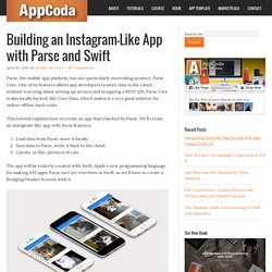 Building an Instagram-Like App with Parse and Swift