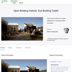 Open Building Institute: Eco-Building Toolkit by Marcin Jakubowski