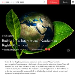 Building An International Nonhuman Rights Movement