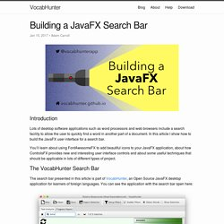 Building a JavaFX Search Bar - VocabHunter