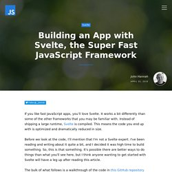 Building an App with Svelte, the Super Fast JavaScript Framework