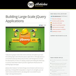 Building Large-Scale jQuery Applications