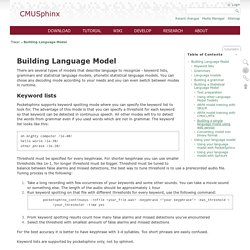 Building Language Model [CMUSphinx Wiki]