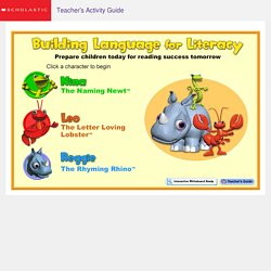 Building Language for Literacy Home