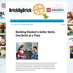 Building Student's Softer Skills, One Brick at a Time
