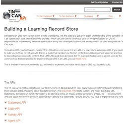 TINCAN API Building a Learning Record Store