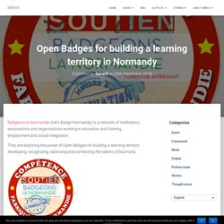 Open Badges for building a learning territory in Normandy – MIRVA