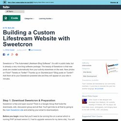 Building a Custom Lifestream Website with Sweetcron - NETTUTS