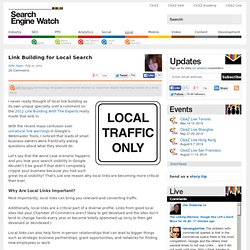 Link Building for Local Search