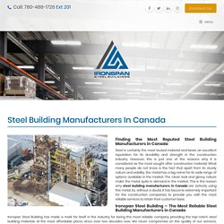 Steel Building Manufacturers in Canada - Ironspan