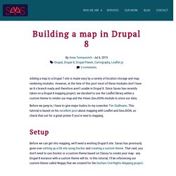 Building a map in Drupal 8