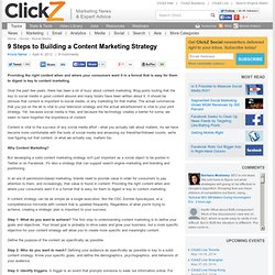 9 Steps to Building a Content Marketing Strategy