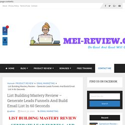 List Building Mastery Review - Don't Buy Without My Advice