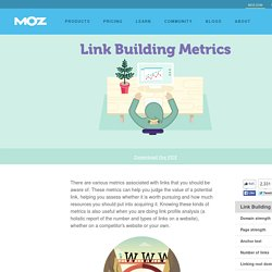 Link Building Metrics - Beginner's Guide to Link Building