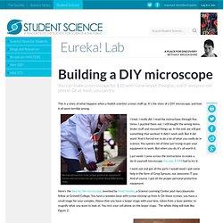 Building a DIY microscope
