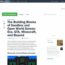 The Building Blocks of Sandbox and Open World Games: Eve, GTA, Minecraft, and Beyond