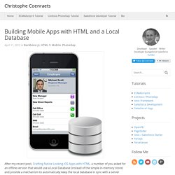 Building Mobile Apps with HTML and a Local Database