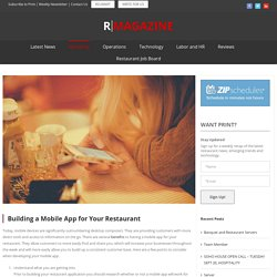 Building a Mobile App for Your Restaurant