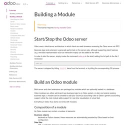 Building a Module — odoo 8.0 documentation