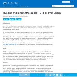 Building and running Mosquitto MQTT on Intel Edison