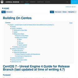 Building On Centos