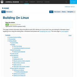 Building On Linux
