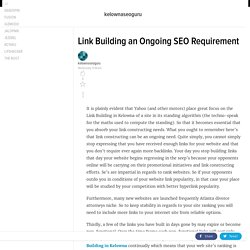 Link Building an Ongoing SEO Requirement
