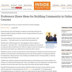 Ideas for Building an Online Community