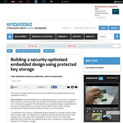 Building a security-optimized embedded design using protected key storage