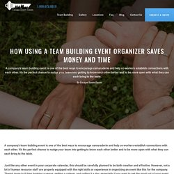 How Using a Team Building Event Organizer Saves Money and Time