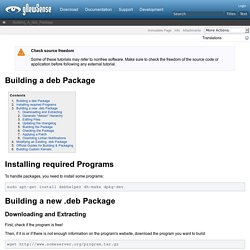 Building a deb Package