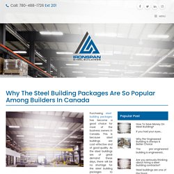 Why the Steel Building Packages Are So Popular in Canada?