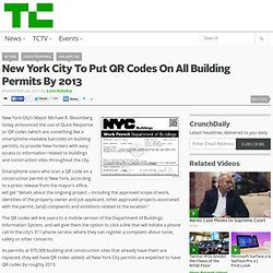 New York City To Put QR Codes On All Building Permits By 2013