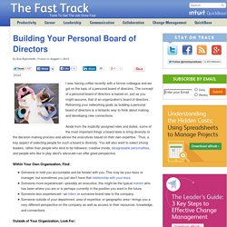 Building Your Personal Board of Directors