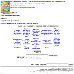 The Web Library Building a World Class Personal Library with Free Web Resources