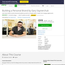 Building a Personal Brand by Gary Vaynerchuk