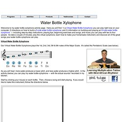 Building and Playing a Water Bottle Xylophone by Phil & Sarah Tulga