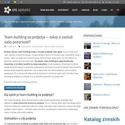 Team building za podjetja – Preverite programe in dogodke - ETC Adriatic
