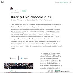 Building a Civic Tech Sector to Last — Positive Returns
