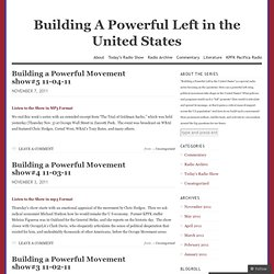 Building A Powerful Left in the United States