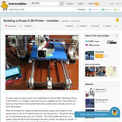 Building a Prusa i3 3D Printer - revisited - All