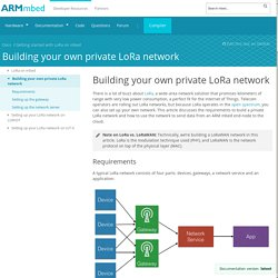 Building your own private LoRa network - Getting started with LoRa on mbed