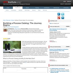 Building a Process Catalog: The Journey Begins