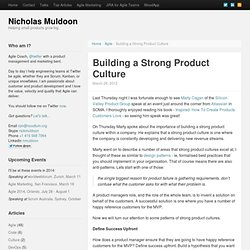 Building a Strong Product Culture by @blossom_io